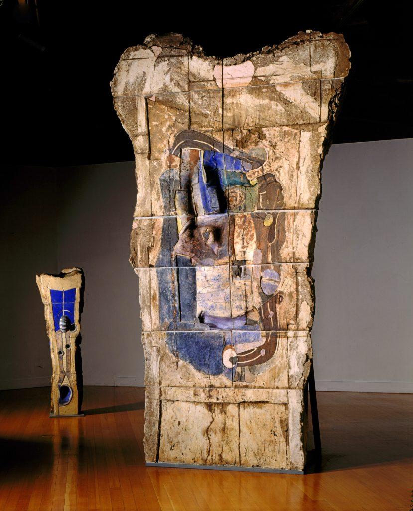John Toki - Blue Turns - 1990 - Ceramic - 12'