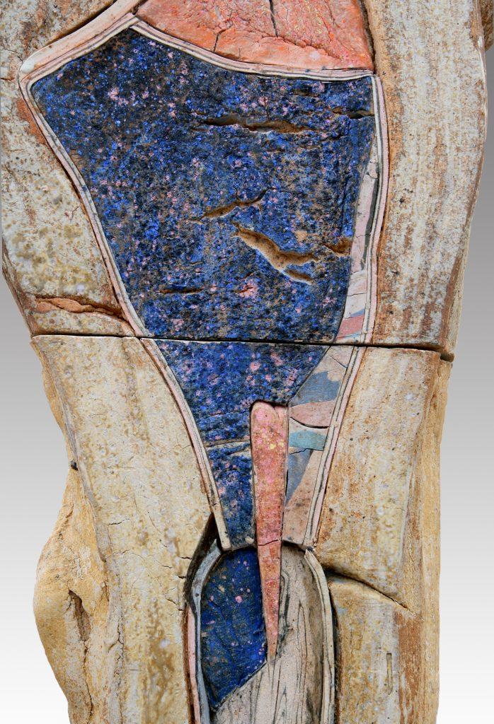 John Toki - Blue Motions (detail) - 2006 - Ceramic - 8'