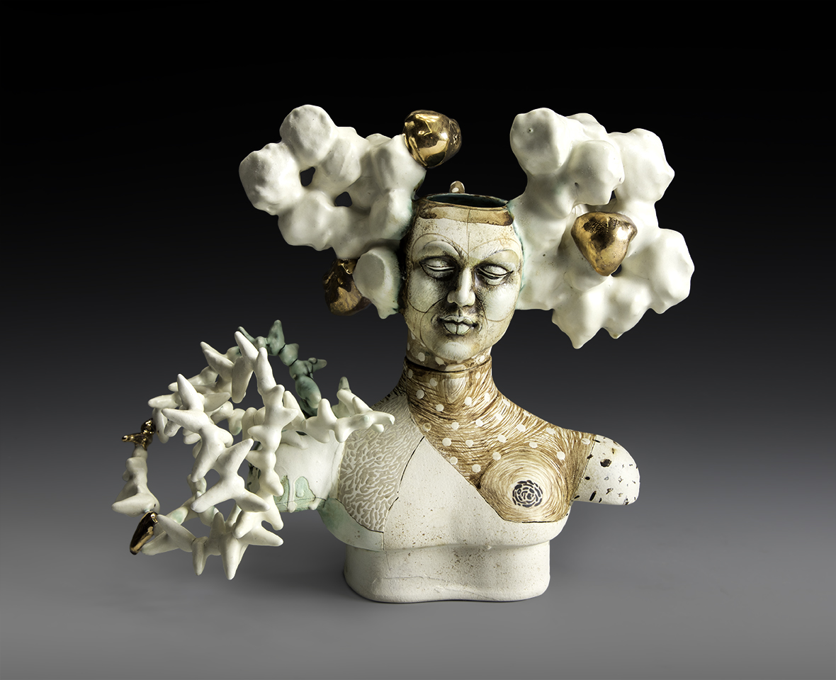 "Lisa Clague - 2017 -Unconscious Thoughts - Ceramic - 12"" x 10"" x 5"""