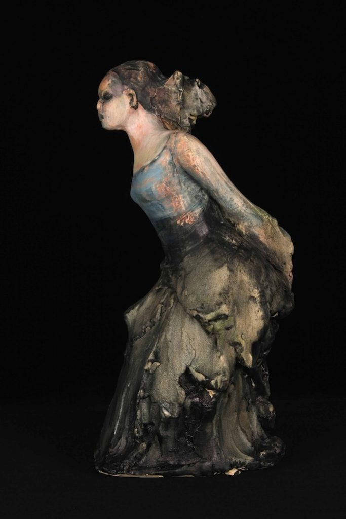 michelle gregor maquette woman sculpture ceramic deep