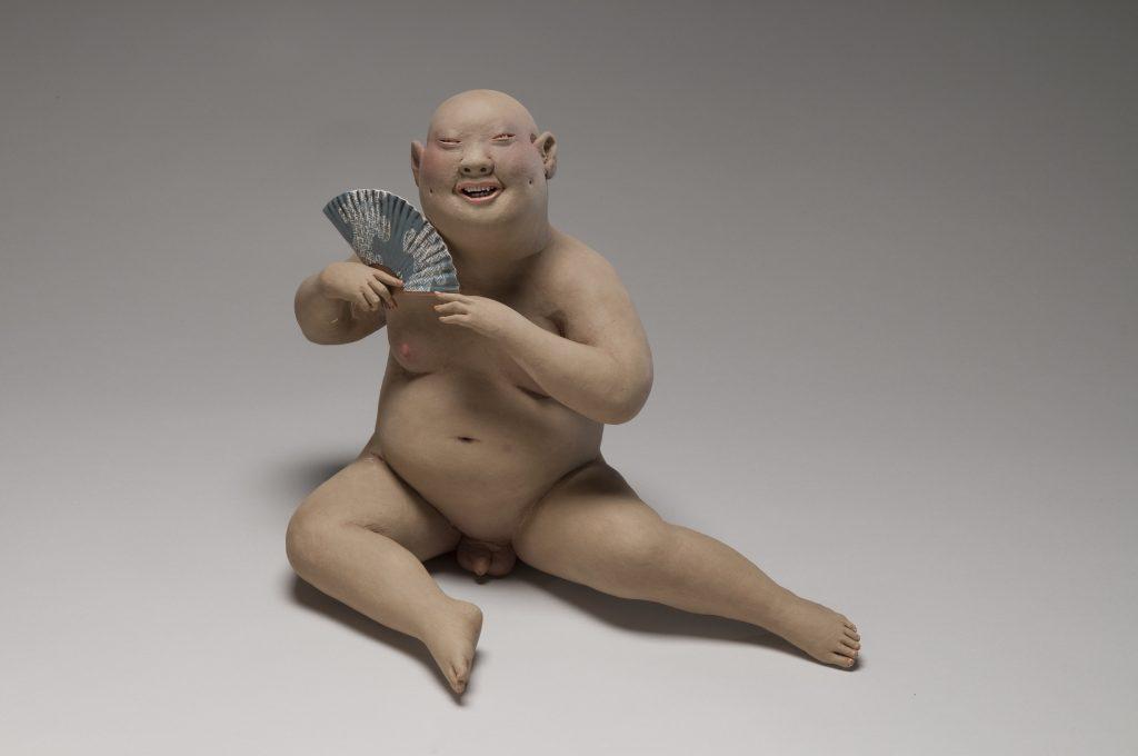 "Esther Shimazu - Warm Green - 2010 - Stoneware, Porcelain - 13"" x 16.5"" x 10"""