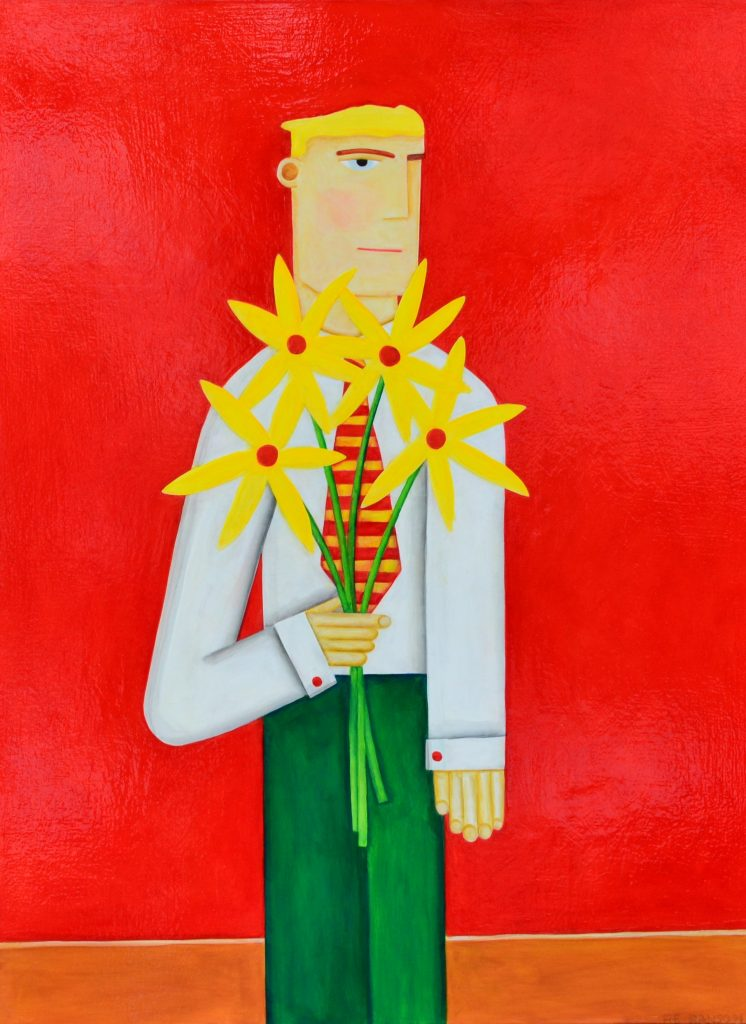 "Robert Ransom - Yellow Flowers - 2019 - 40"" x 30"""
