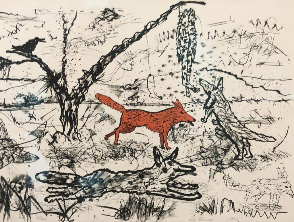 "Roy De Forest - Colored Lithograph. 22"" x 30"""