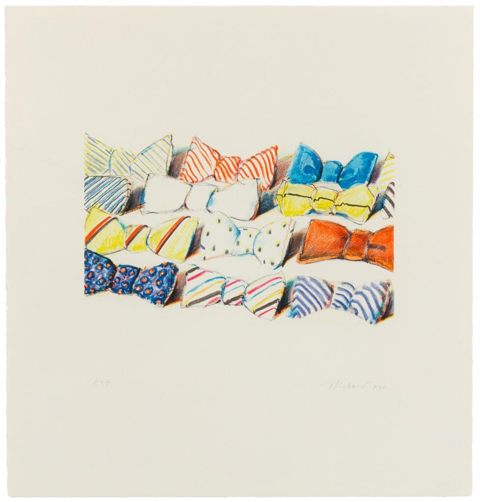 Wayne Thiebaud - Bow Ties - 1990 - Lithograph