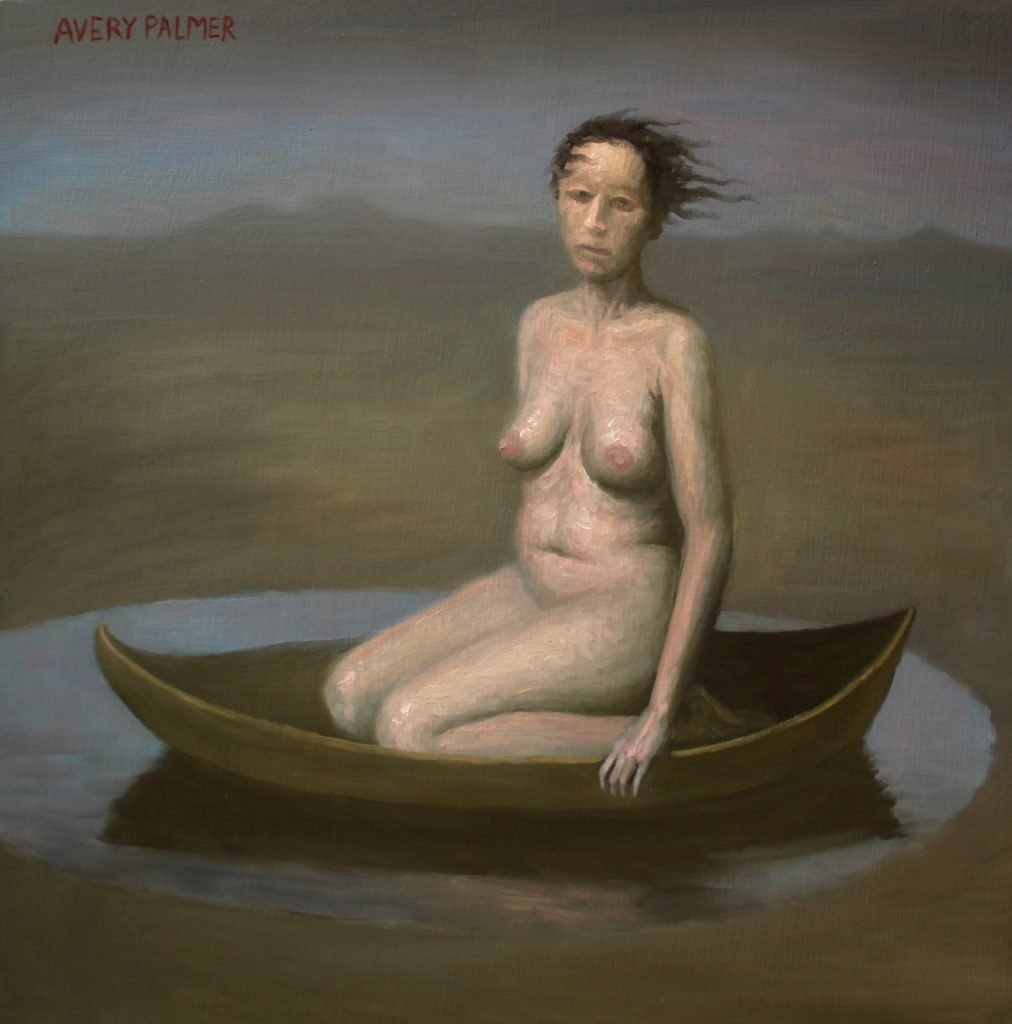 """Avery Palmer - The Stranded Woman - 2019 - Oil on Canvas - 12"""" x 12"""""""