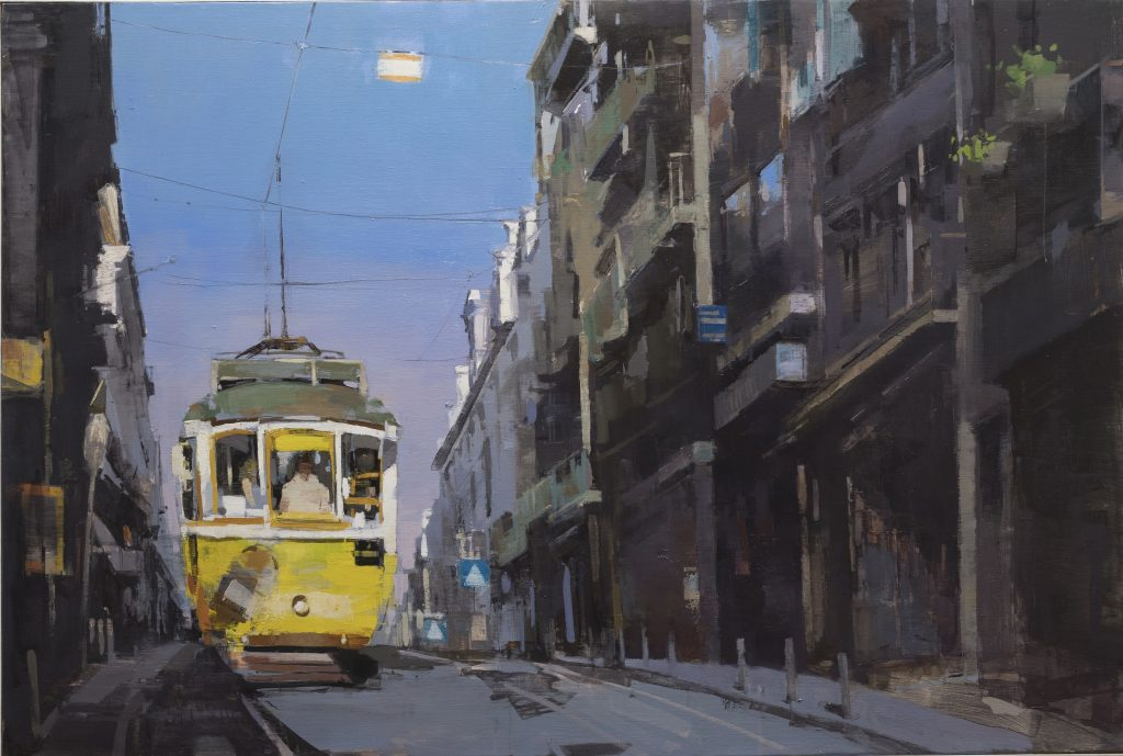 "Jose Manuel Arevalo - Lost in Lisbon I - 2019 - Oil on Linen - 47"" x 31"""