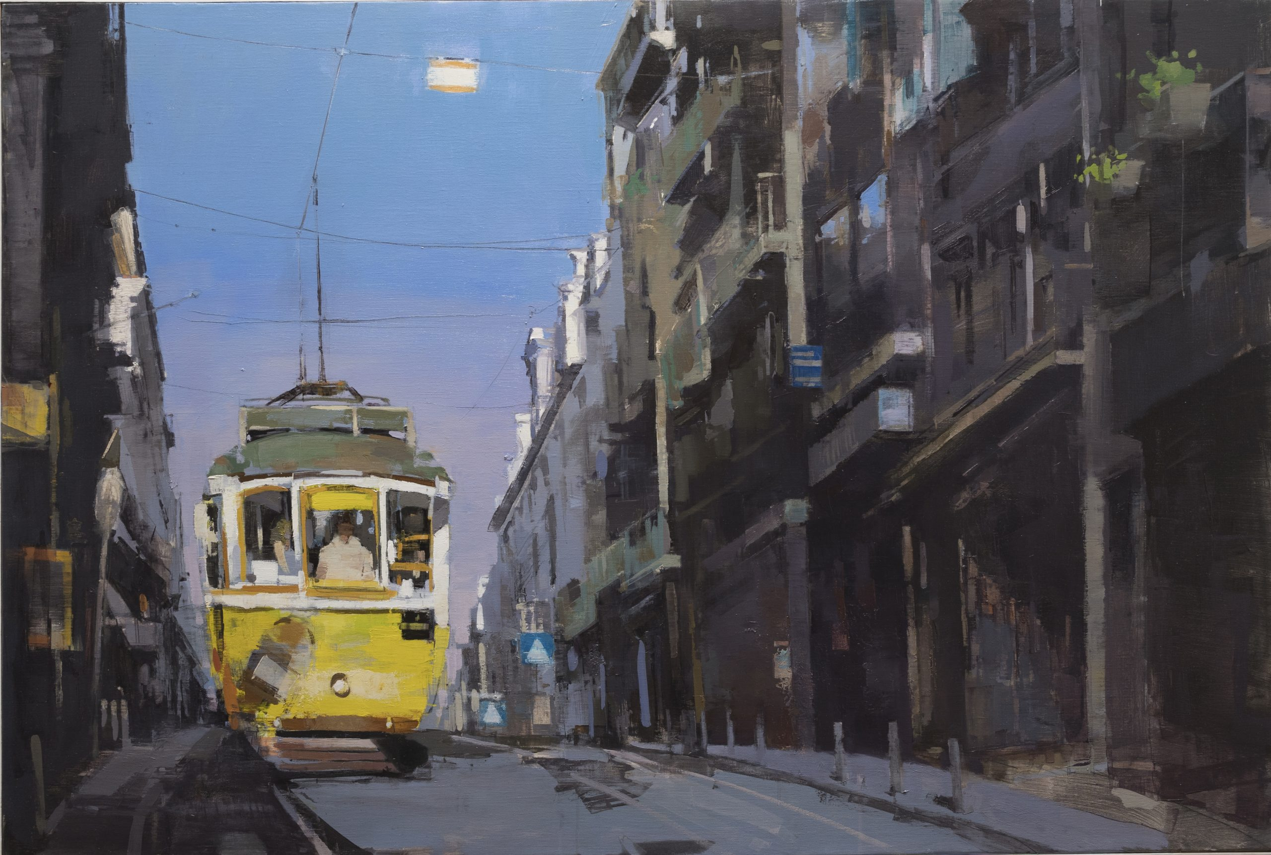"""Jose Manuel Arevalo - Lost in Lisbon I - 2019 - Oil on Linen - 47"""" x 31"""""""