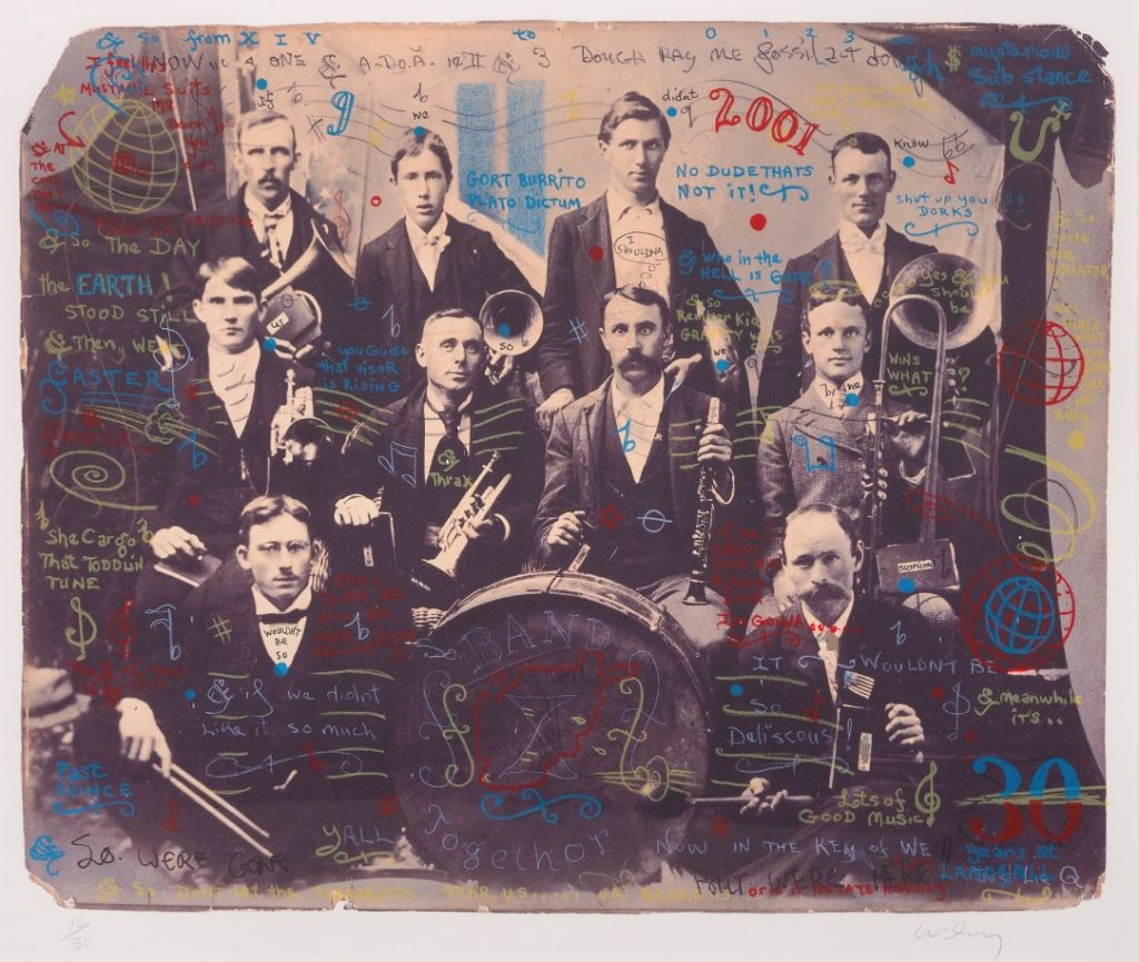 """William T. Wiley - Band Together - 2002 - Lithograph - 17.25"""" × 21.75"""""""