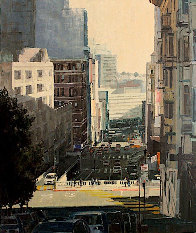 """Philippe Gandiol - Bush Over Stockton - 2018 - Oil on Canvas - 48"""" x 40"""""""