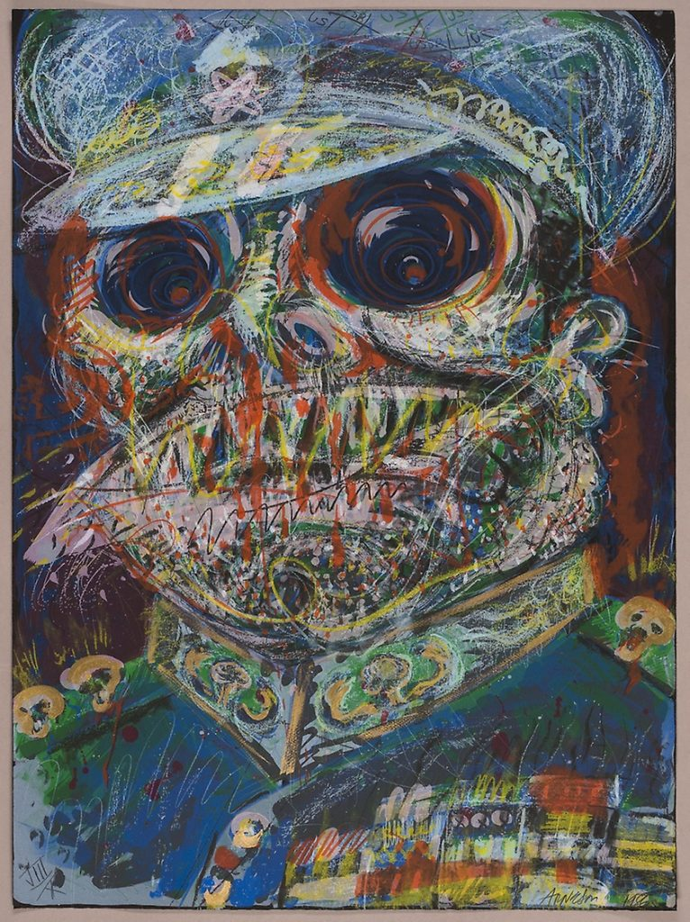 """Robert Arneson - 1987 - The Colonel's at it Again - Colored Lithograph - 28"""" x 38"""""""