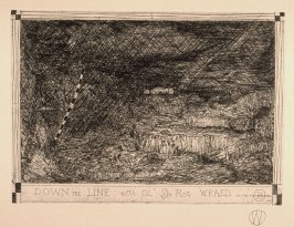 "William T. Wiley - Down The Line - Etching with Roulette on Arches - 14.5"" x 18.5"""