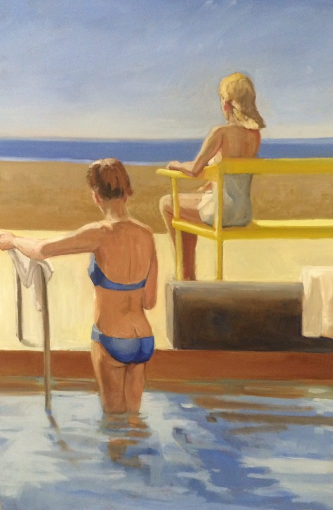 "Kerry Rowland-Avrech - American Girls - Oil on Panel - 24"" x 36"""