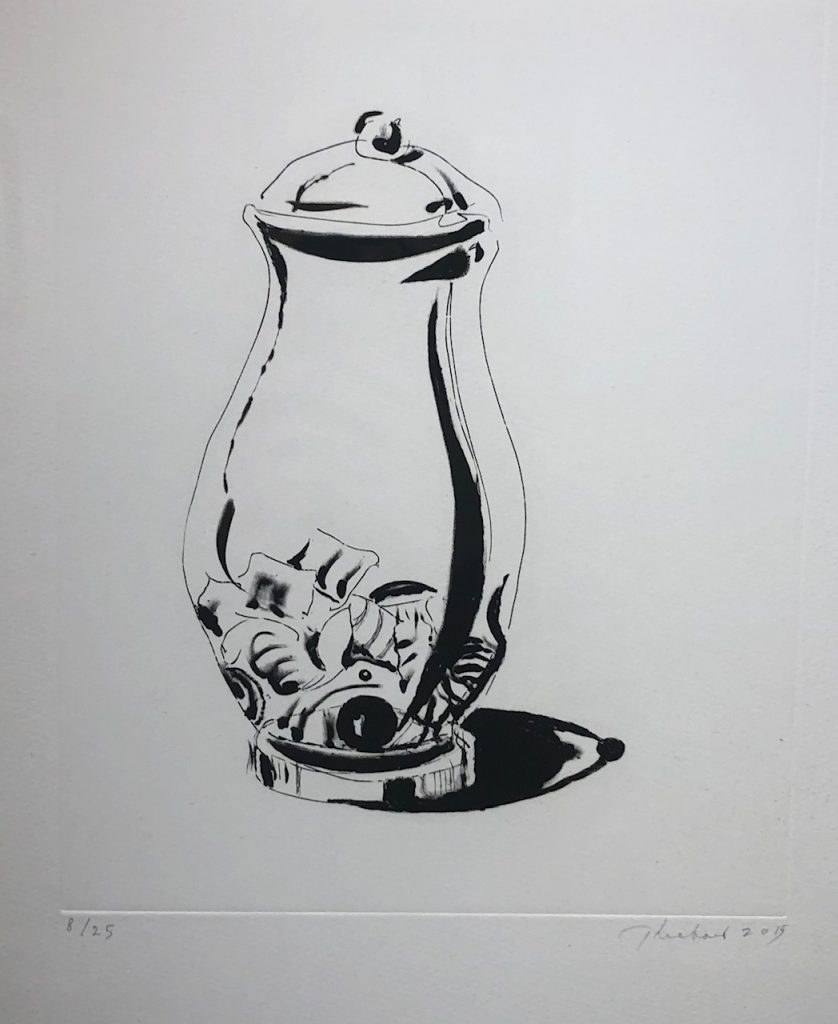 """Wayne Thiebaud - Candy Jar - 2015 - Direct Gravure with Drypoint - 16.75"""" x 13.5"""""""