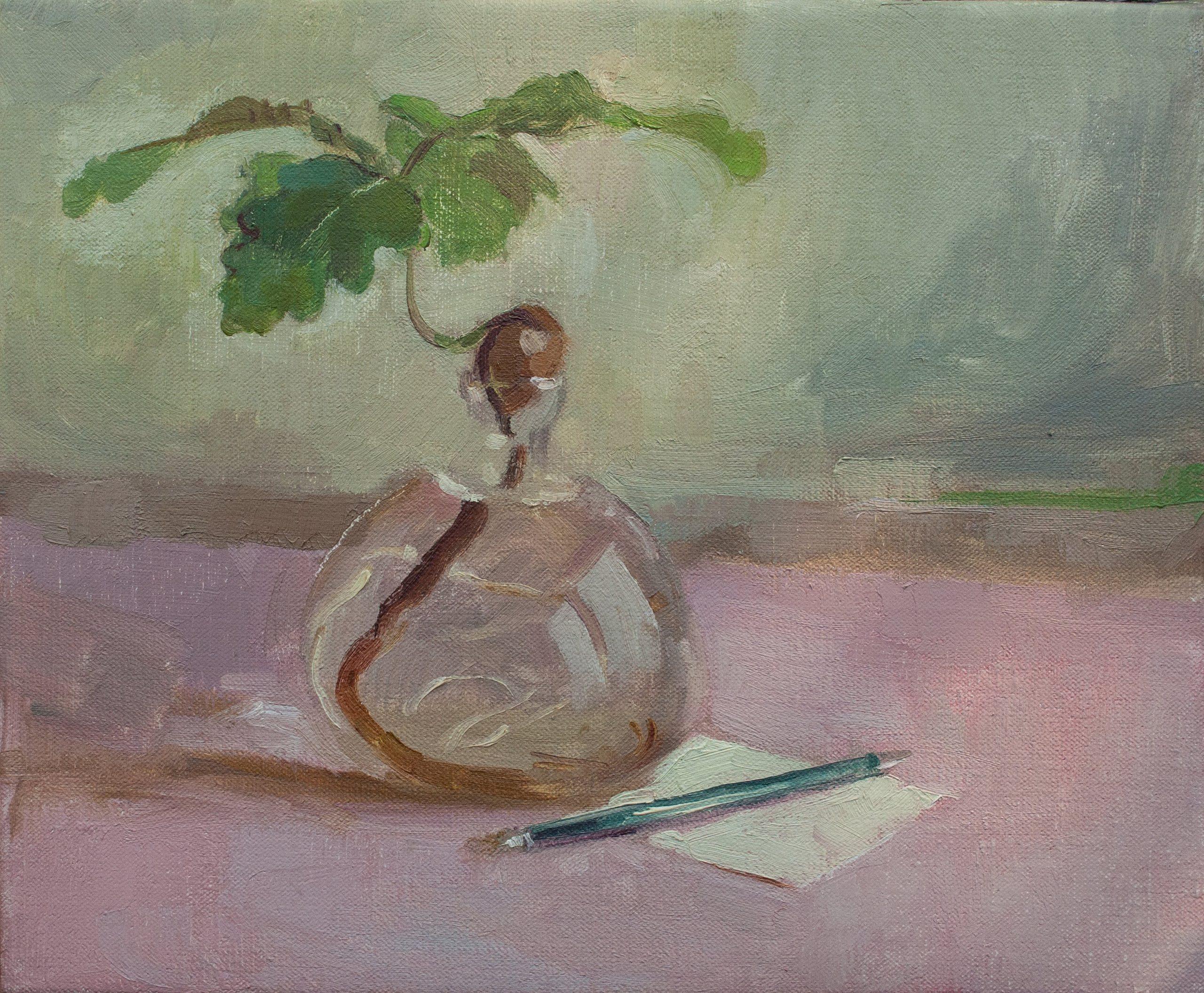 """Ilaria Rosselli Del Turco - Oakling - Oil on Linen - 10"""" x 12"""""""