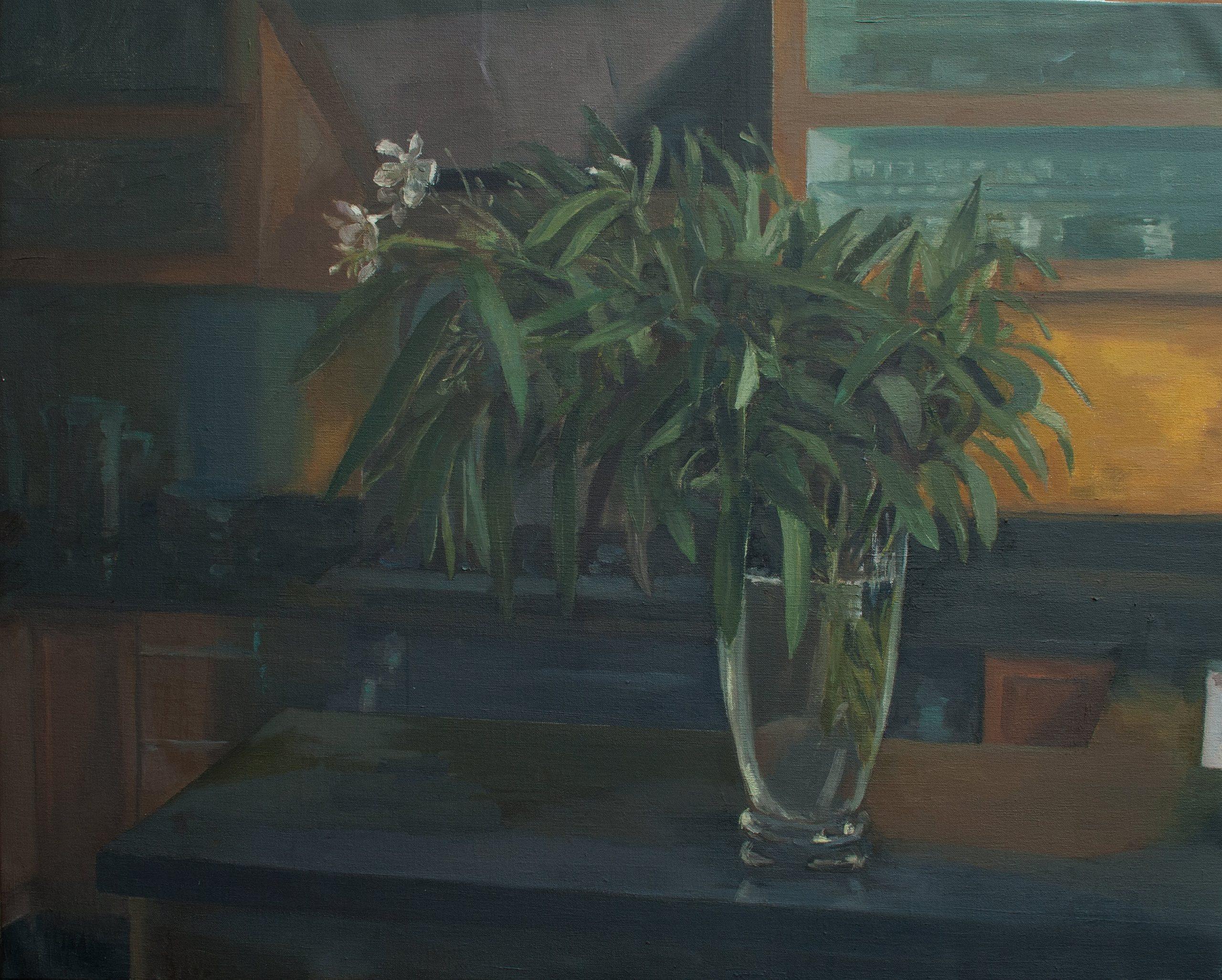 "Ilaria Rosselli Del Turco - Oleander - Oil on Linen - 24"" x 28"""