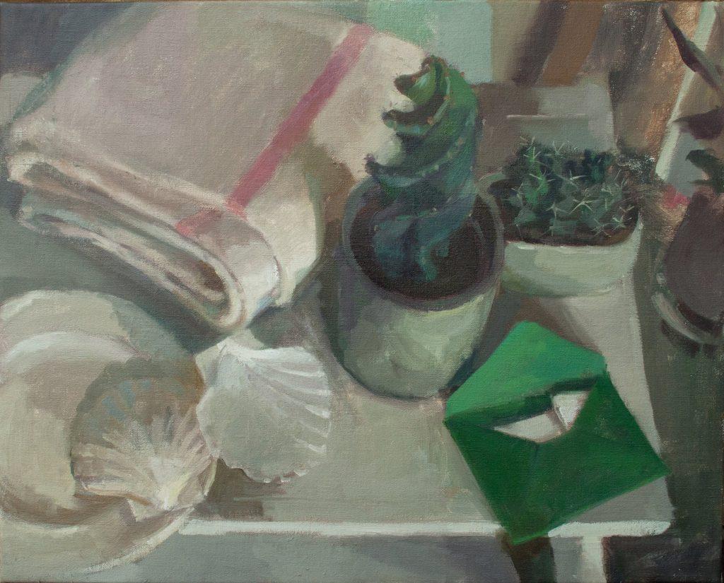 "Ilaria Rosselli Del Turco - Pilgrim - Oil on Linen - 16"" x 20"""