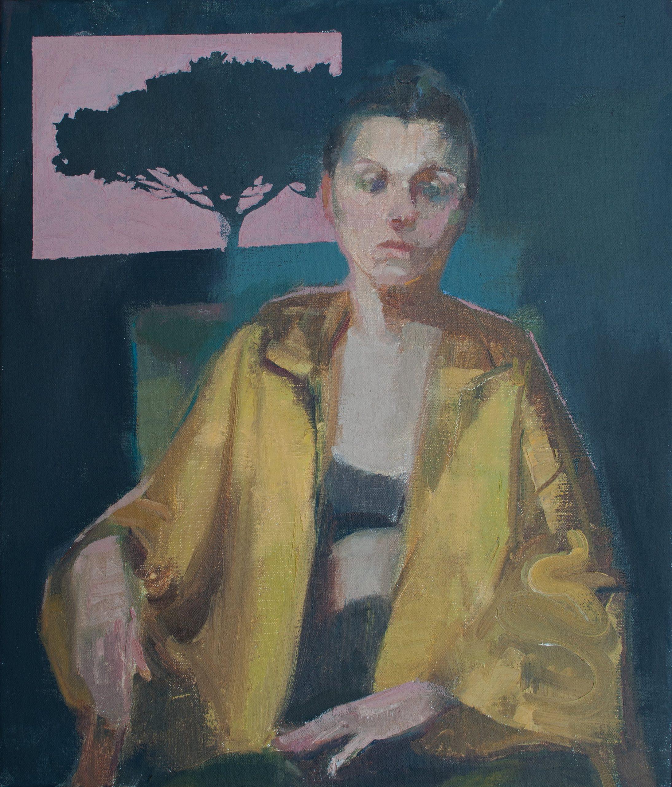 """Ilaria Rosselli Del Turco - Pine - Oil on Linen - 16"""" x 14"""""""