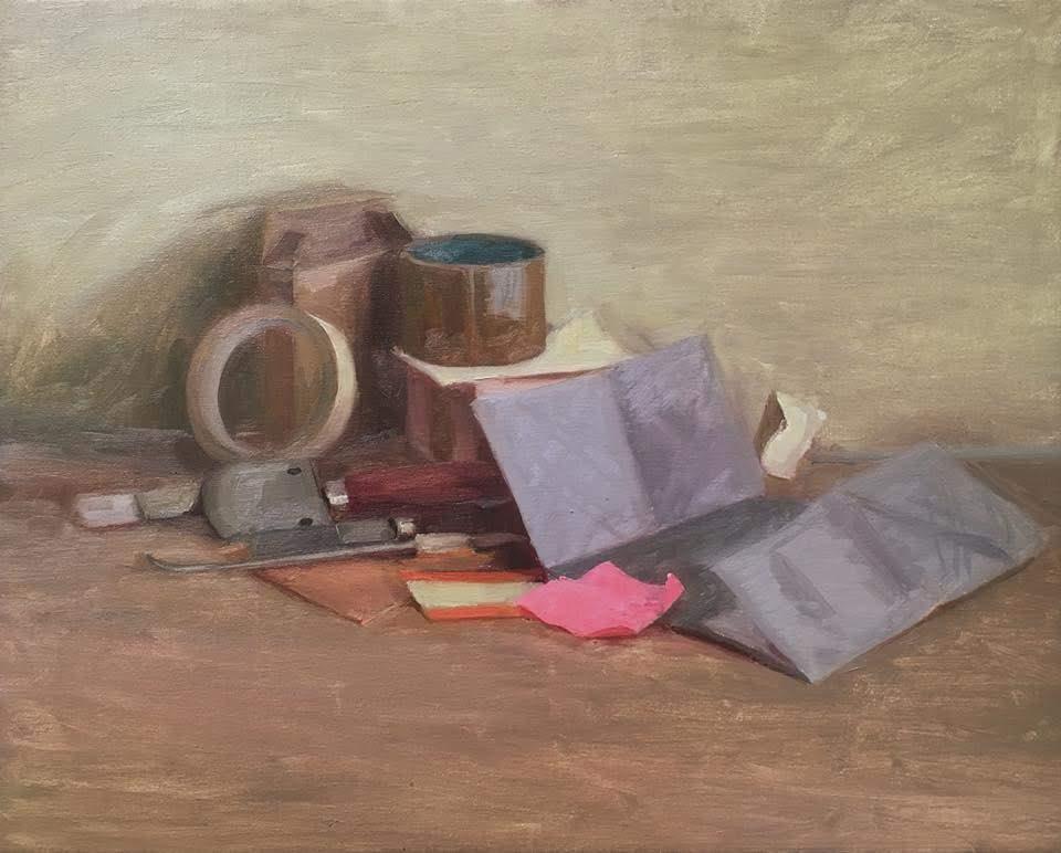 """Ilaria Rosselli Del Turco - Political Still Life - Oil on Linen - 16"""" x 20"""""""