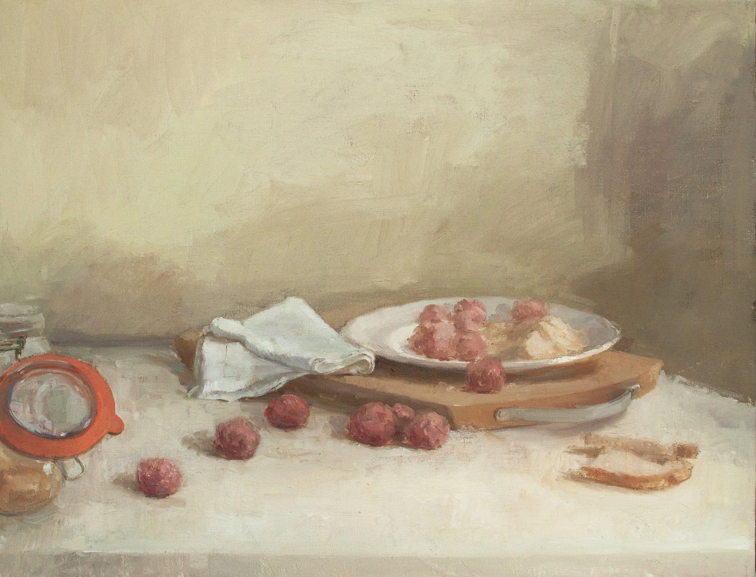 """Ilaria Rosselli Del Turco - Polpette - Oil on Linen - 20"""" x 26"""""""