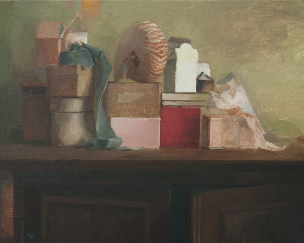 "Ilaria Rosselli Del Turco - Stacked - Oil on Linen - 20"" x 26"""