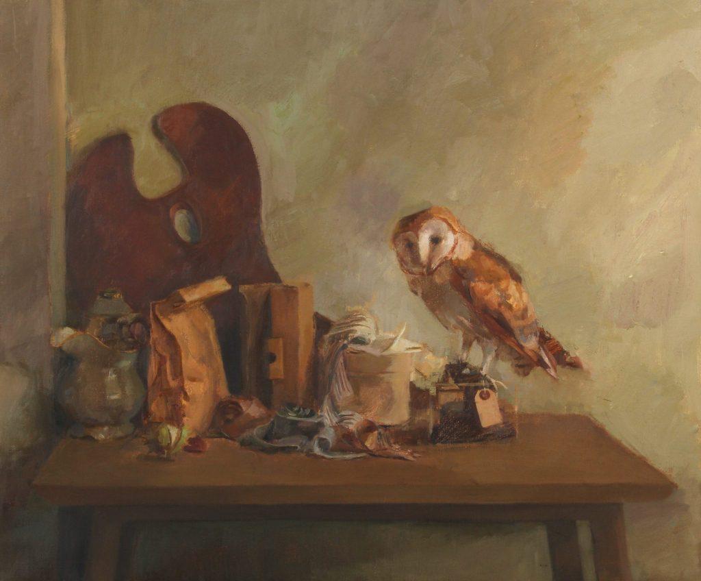 "Ilaria Rosselli Del Turco - Still Life with Palette - Oil on Linen - 28"" x 34"""