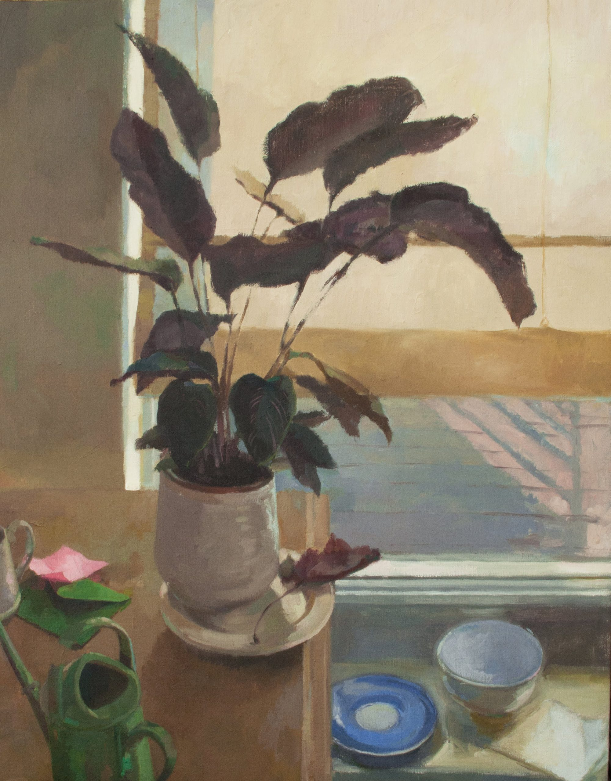 """Ilaria Rosselli Del Turco - Still Life with Watering Can - Oil on Linen - 30"""" x 24"""""""