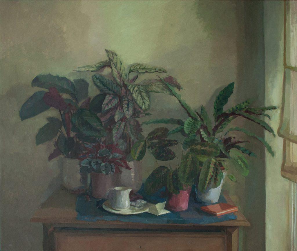 """Ilaria Rosselli Del Turco - Studio Jungle - Oil on Linen - 40"""" x 48"""""""
