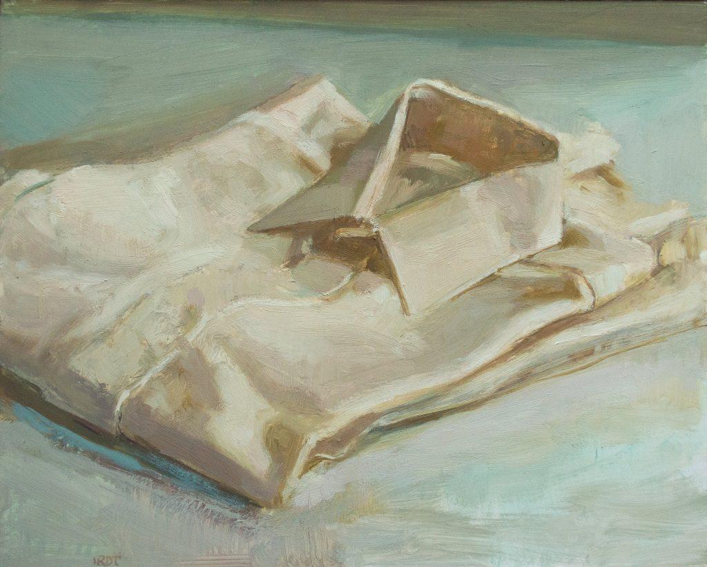 "Ilaria Rosselli Del Turco - White Shirt -Oil on Linen - 10"" x 12"""