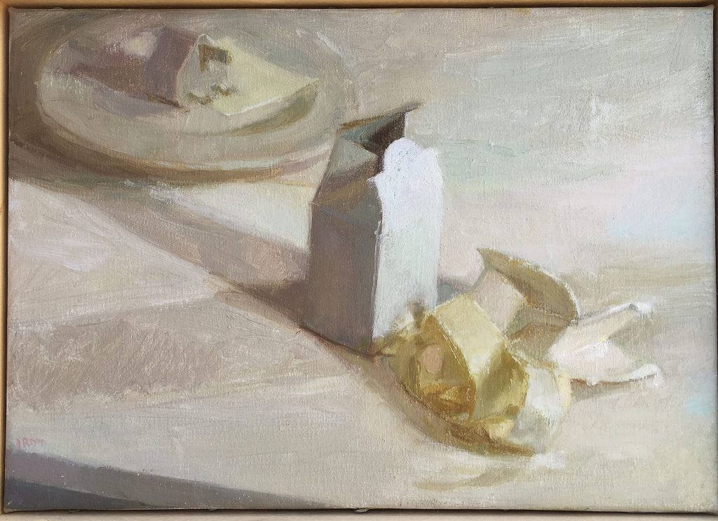 "Ilaria Rosselli Del Turco - White Still Life -Oil on Linen - 10"" x 14"""