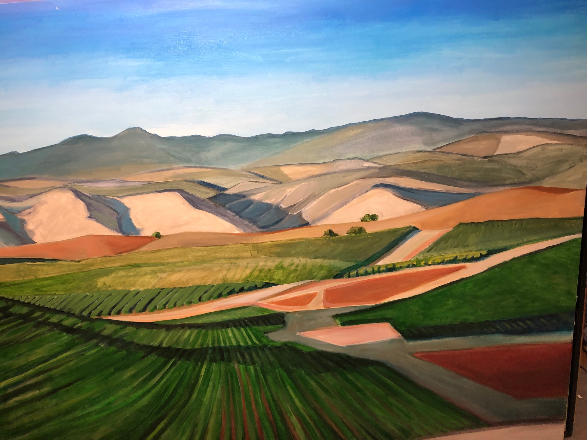 Kerry Rowland-Avrech - Foothill Vineyards - Oil on Panel - 5' X 4'