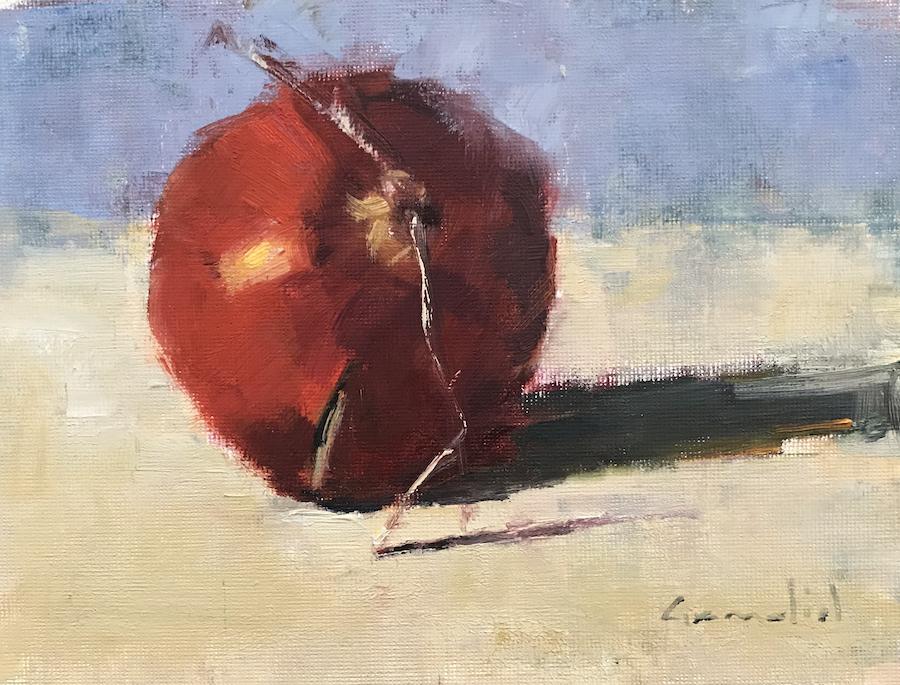 "Philippe Gandiol - 2019 - Pomegranate - Oil on Panel - 6"" x 8"""