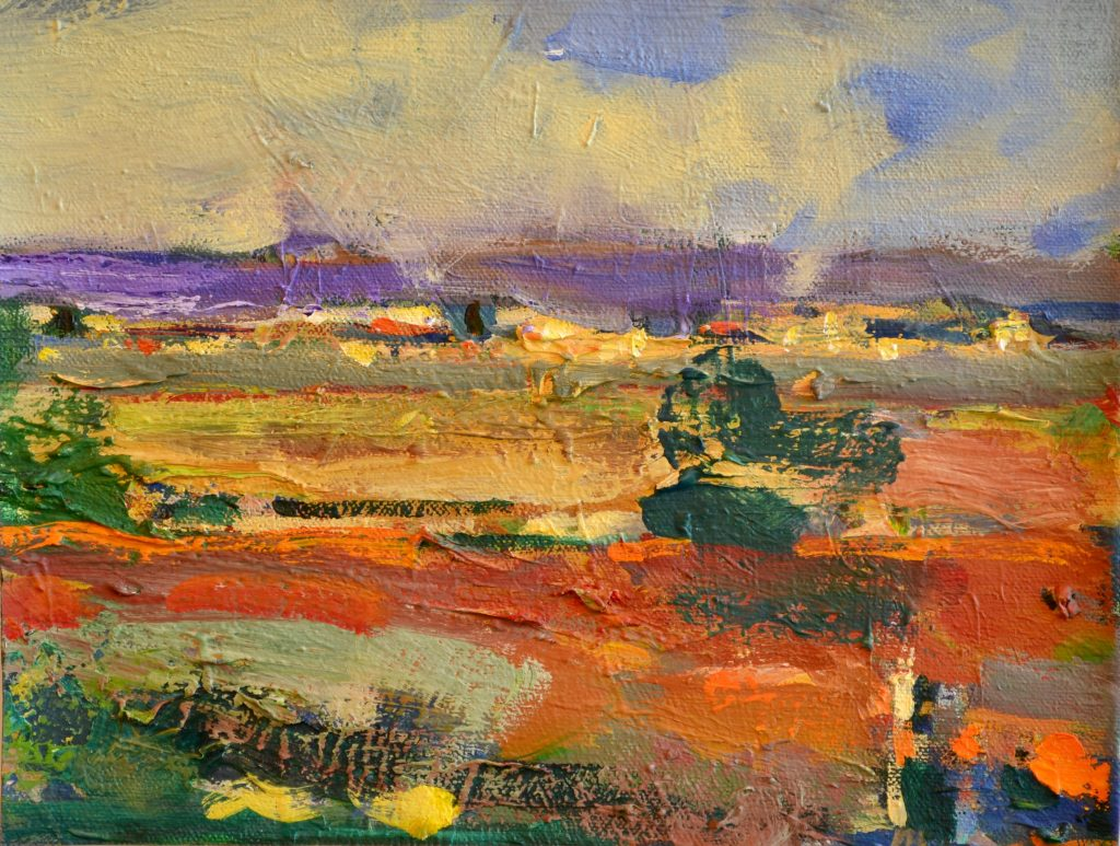 """Pat Mahony - Yolo View - 2020 - Oil on Canvas - 7.5"""" x 10"""""""