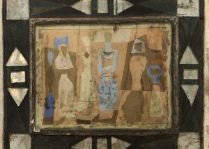 "Jean Varda - Mirrored - 1941 - 28"" x 24"" - Mixed Media, Glass, Ceramic"