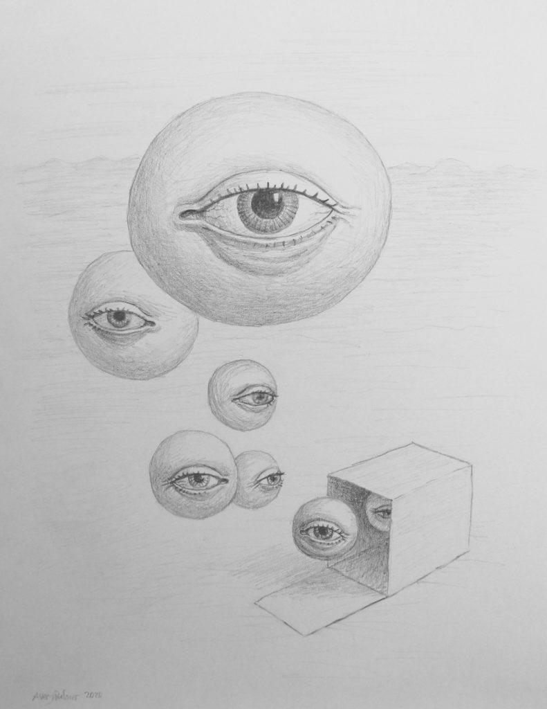 """Avery Palmer - 2020 - The Escape - Graphite on Paper - 12"""" x 9"""""""