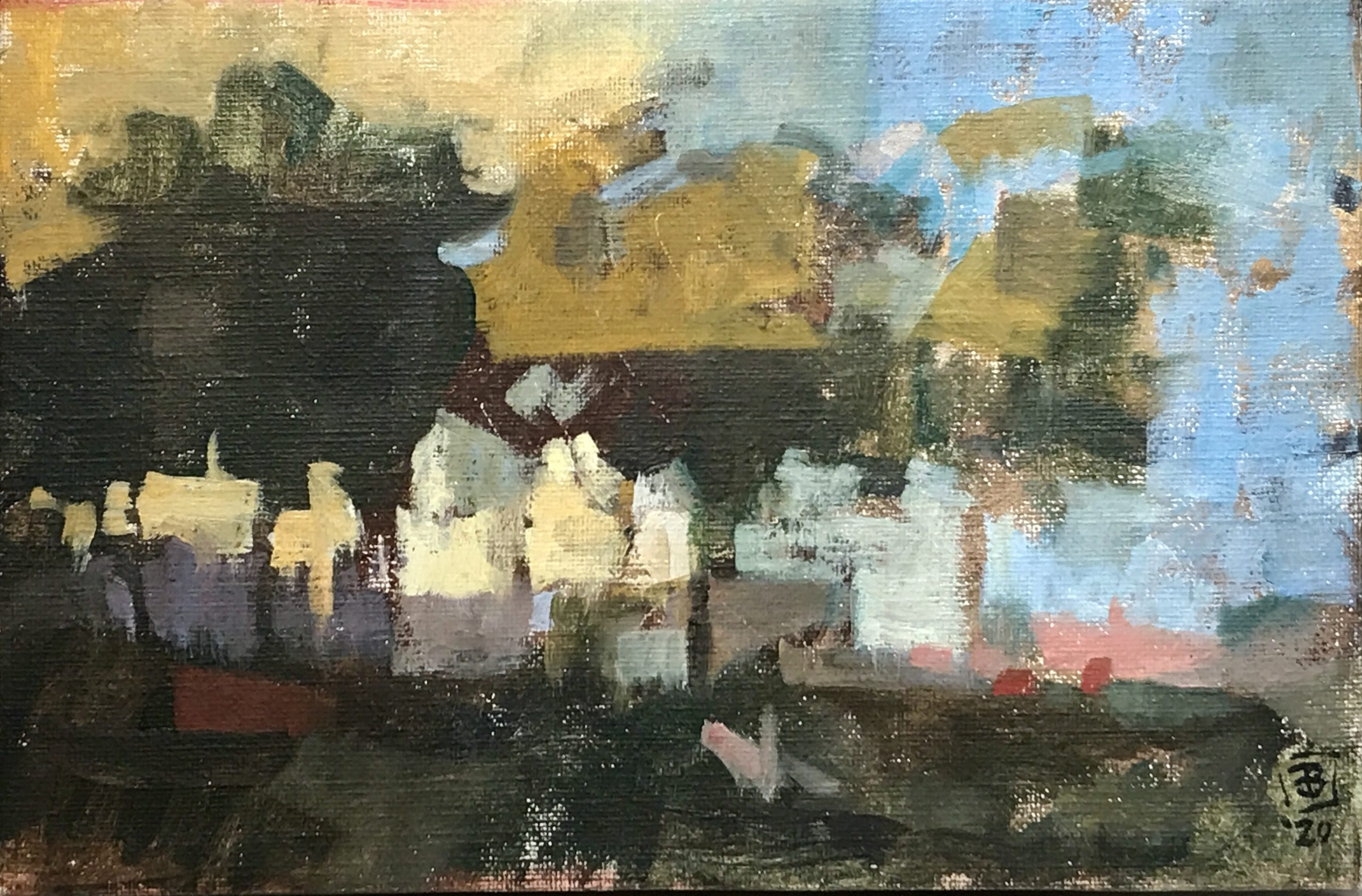 """James Bland - 2020 - Study After Turner - Oil on Canvas - 12"""" x 8.5"""""""