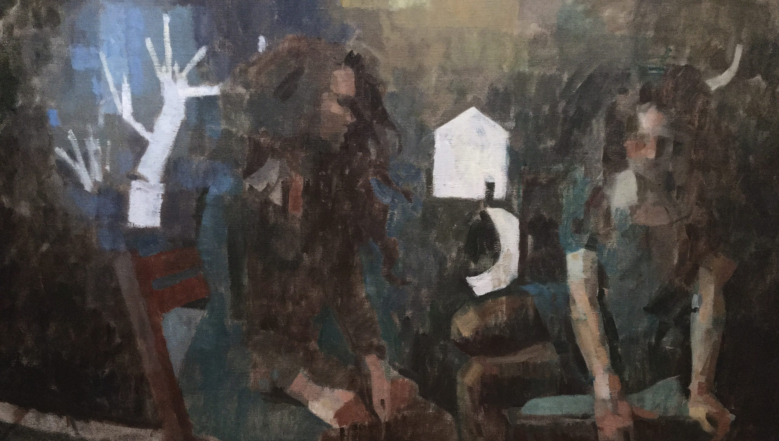 """James Bland - 2020 - The Well - Oil on Canvas - 22"""" x 38"""""""