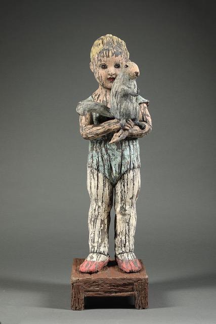 """Margaret Keelan - Peekaboo - Ceramic - 29"""" x 8"""" x 8"""""""