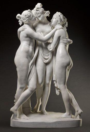 The Three Graces ceramic art