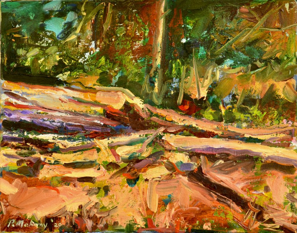 "Pat Mahony - Fallen Trees - 11"" x 14"" - Oil on Canvas - 2020"