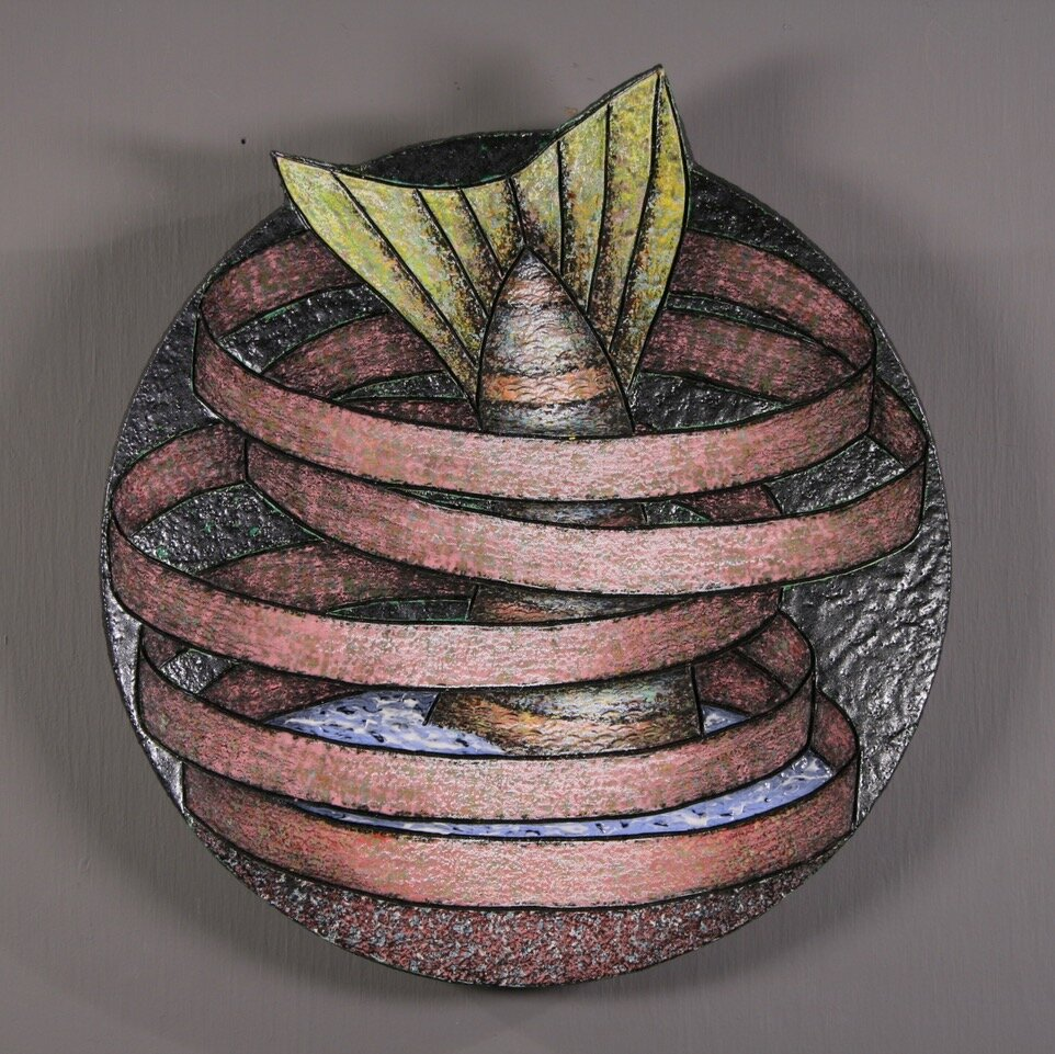 "Louis Marak - 1996 - Fish Rings - Ceramic - 11"" x 11"" x 2.5"