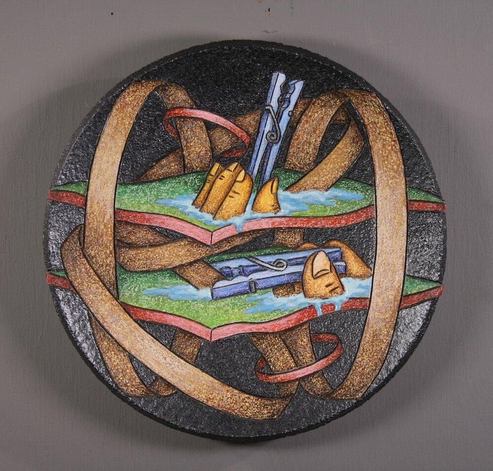 "Louis Marak - 1996 - Clippers - Ceramic - 11.75"" x 11.75"" x 1.75"""