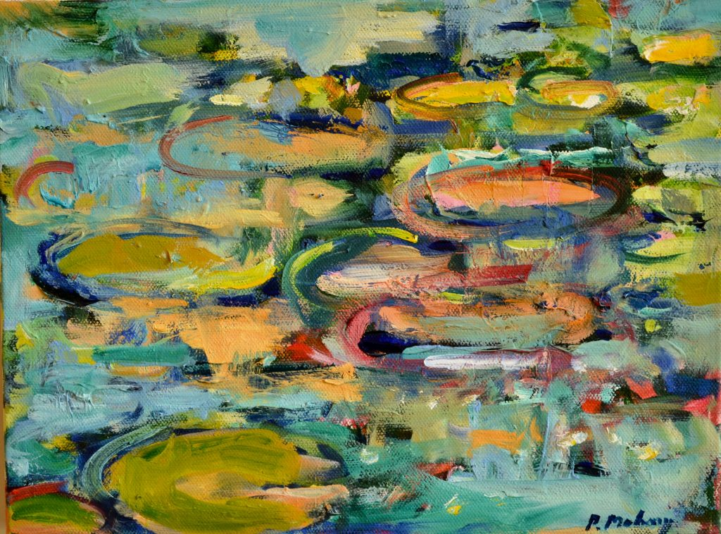"""Pat Mahony - Just Floating - 9"""" x 11"""" - Oil on Canvas - 2020"""
