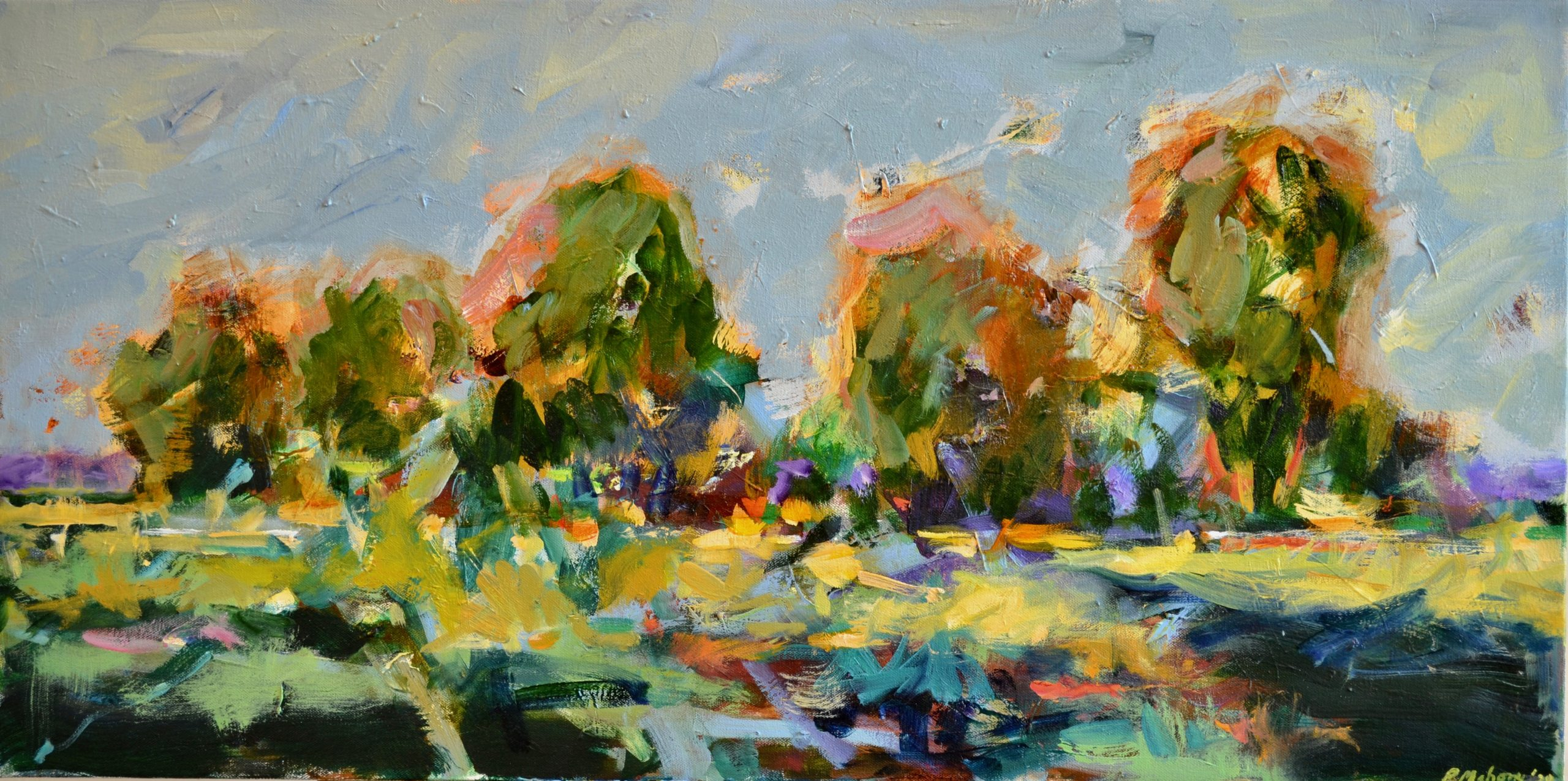 "Pat Mahony - Late Morning Light - 18"" x 36"" - 2020"