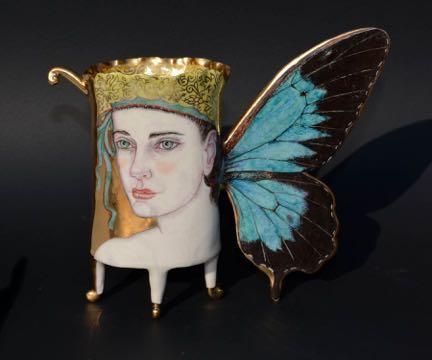"Irina Zaytceva - Butterfly - 2020 - Porcelain - 6"" x 4"" x 2"""