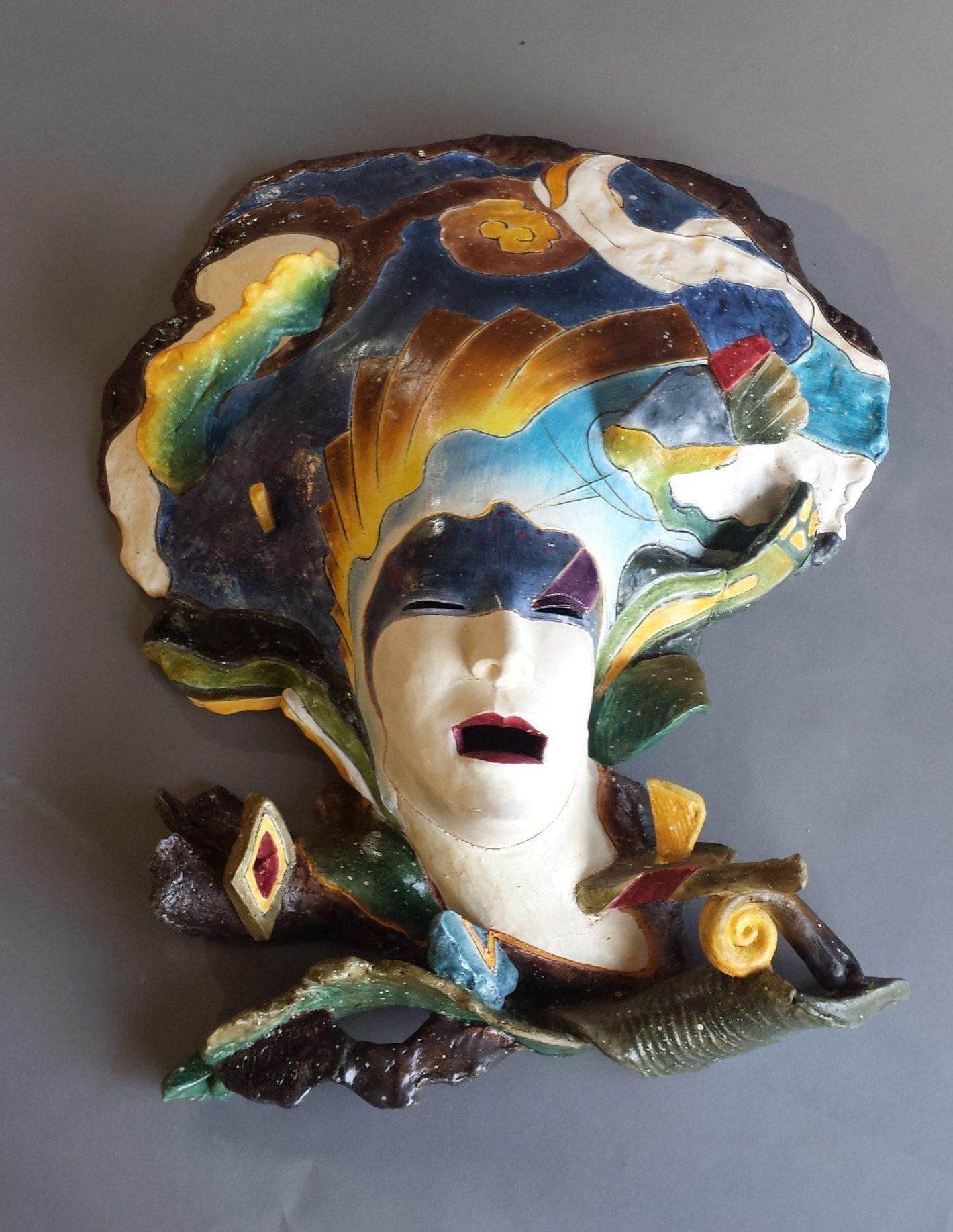 """Yoshio Taylor - Floating - 2020 - Ceramic - 28"""" x 23"""" x 6.5"""""""