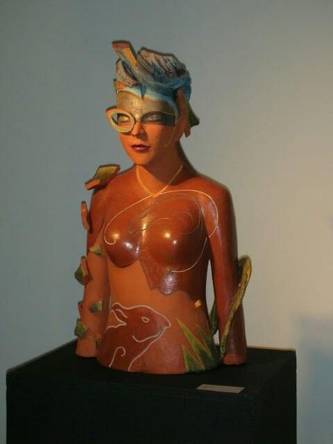"Yoshio Taylor - Monocle - 2007 - Ceramic - 31.5"" x 18"" x 11"""