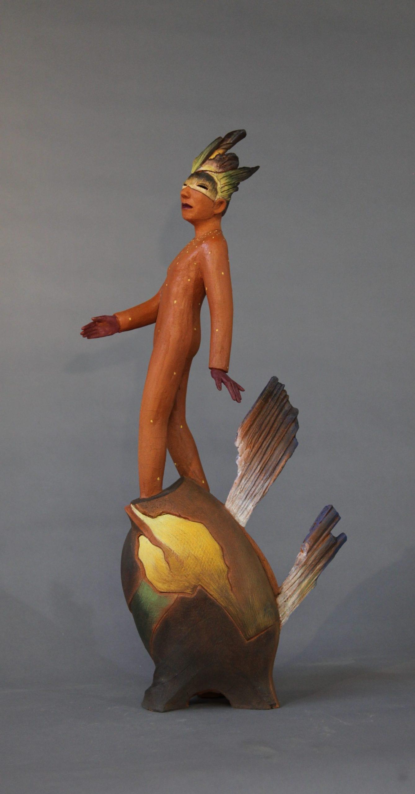 """Yoshio Taylor - Don't Look Back - 2020 - Ceramic - 31"""" x 8"""" x 15"""""""