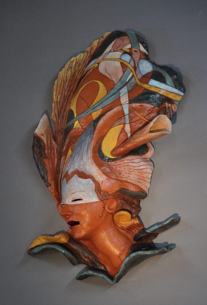 """Yoshio Taylor - Leap - 2020 - Ceramic - 32"""" x 19"""" x 5"""""""