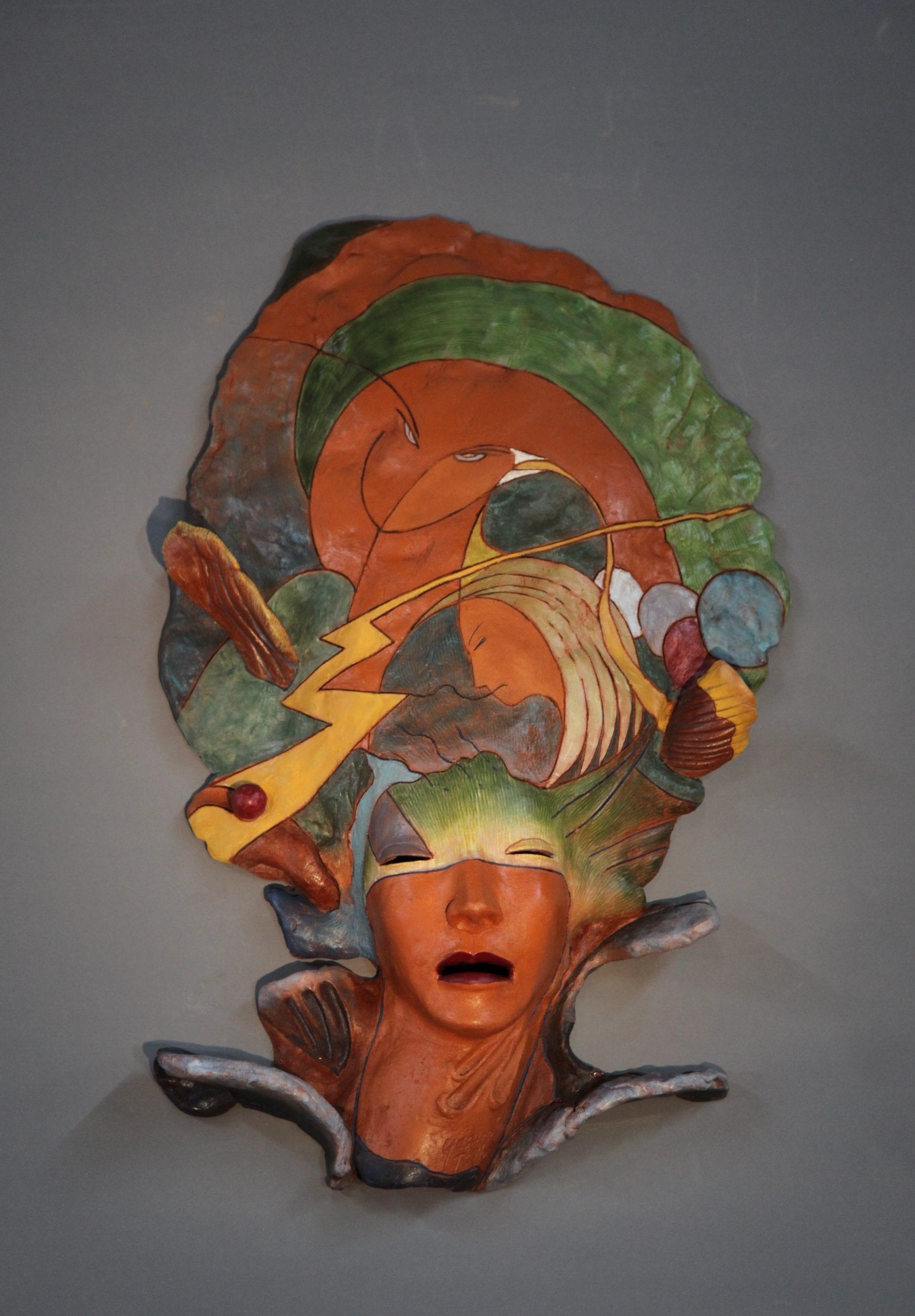 """Yoshio Taylor - Through Birds Eyes - 2020 - Ceramic - 28.5"""" x 18"""" x 6.5"""""""