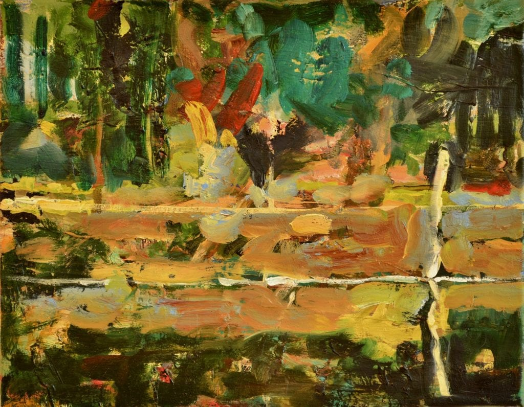 "Pat Mahony - Black Water - 2020 - Oil on Linen - 11"" x 14"""
